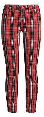 Current/Elliott Women's The Stiletto Plaid Cropped Trousers