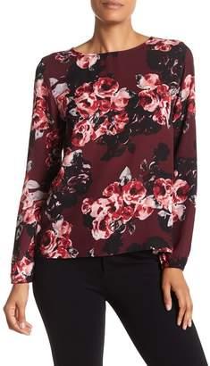 Philosophy Apparel Long Sleeve Floral Print Blouse