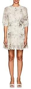 Zimmermann Women's Iris Floral-Print Linen Mini-Dress