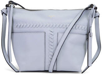T Tahari Skyler Leather Whipstitch Top Zip Crossbody