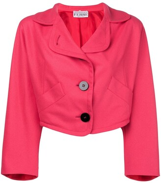 Gianfranco Ferre Pre-Owned oversized cropped blazer