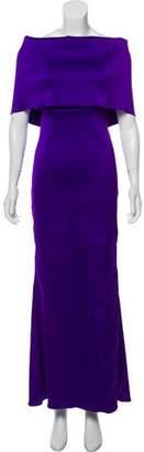 Oscar de la Renta Satin Evening Dress