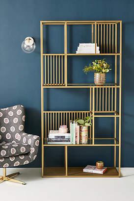 Anthropologie Irregular Brass Bookshelf