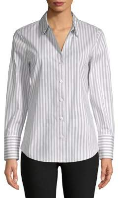 Isaac Mizrahi IMNYC Striped Button-Down Shirt