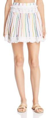 Place Nationale Peille Embroidered Candy Stripe Mini Skirt