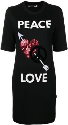 Love Moschino Peace and Love jersey dress
