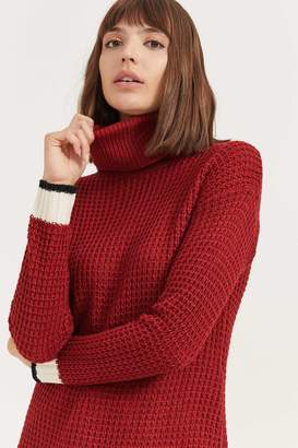 Ardene Turtleneck Sweater with Striped Detail