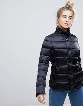 Love Moschino Shiny Tube Quilted Jacket