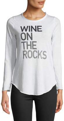 Chaser Wine On The Rocks Long-Sleeve Graphic Tee