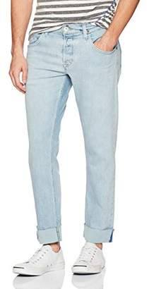 Hudson Men's Blake Slim Straight Cropped Selvedge Jeans with Cuff