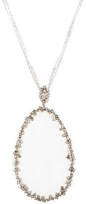 Suzanne Kalan 18K Moonstone & Diamond Starburst Pendant Necklace
