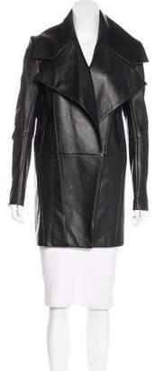 Thomas Wylde Leather Knee-Length Coat