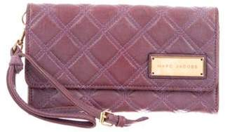 Marc Jacobs Leather Quilted Wallet gold Leather Quilted Wallet