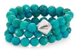 Nest Turquoise Beaded Stretch Bracelet Set