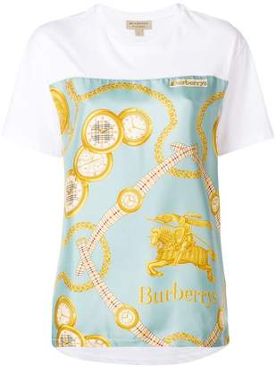 Burberry Archive Scarf Print Oversized T-shirt