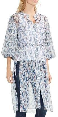 Vince Camuto Boutique-Floral Bubble-Sleeve Tunic