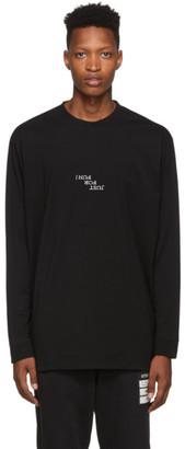 Marcelo Burlon County of Milan Black Ghost House Long Sleeve T-Shirt