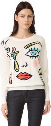 Boutique Moschino Printed Sweater $525 thestylecure.com