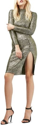 Women's Topshop Foil Spot Midi Dress $75 thestylecure.com