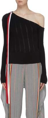 Hellessy 'Nadege' stripe one-shoulder knit top