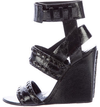 Alexander Wang Alexander Wang Patent Leather Wedge Sandals