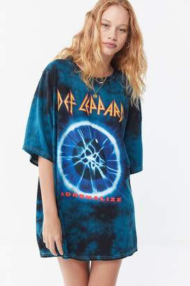 Urban Outfitters Def Leppard Tie-Dye T-Shirt Dress