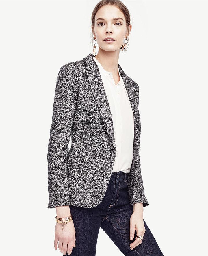 Ann TaylorMixed Tweed One Button Blazer