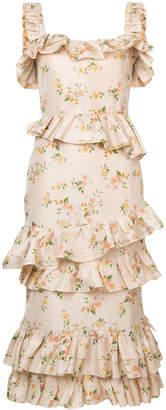 Brock Collection Daria Midi floral print tafetta dress