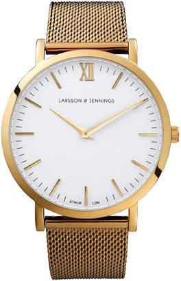 Larsson & Jennings LJ-W-CMGLD-O-GW Lugano 40 Mesh Watch