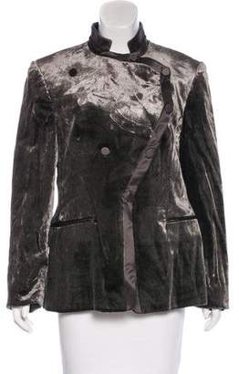 Giorgio Armani Satin-Accented Velvet Jacket