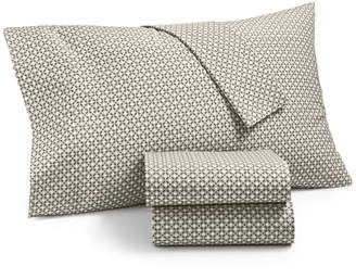 Martha Stewart Collection Essentials Printed 220 Thread Count 3-Pc. Twin Xl Sheet Set, Created for Macy's Bedding