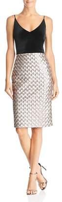 Black Halo Finley Velvet & Sequin Dress