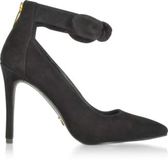 Michael Kors Alina Black Suede Heel Pumps