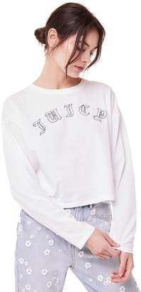 Juicy Couture Juicy Wildstyle Long Sleeve Crop Tee