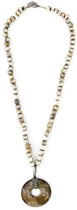 Loree Rodkin diamond stone disc lariat necklace