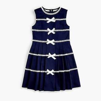 J.Crew Girls' bow-trimmed dress