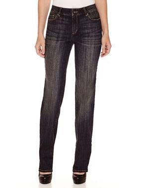 LIZ CLAIBORNE Liz Claiborne City-Fit 5-Pocket Roll-Cuff Jeans - Tall $50 thestylecure.com