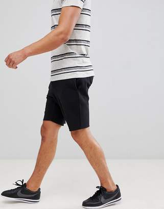 New Look Pique Jersey Shorts In Black