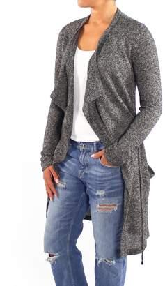 Backdrop Fashion Grey Long Cardigan