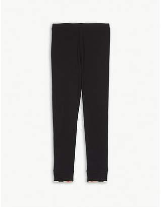 Burberry Check-print cotton leggings 4-14 years