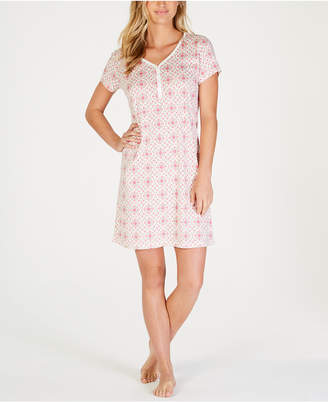 Charter Club Cotton Printed Sleepshirt, Created for Macy's
