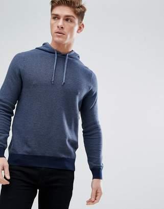 Burton Menswear Knitted Hoodie In Navy