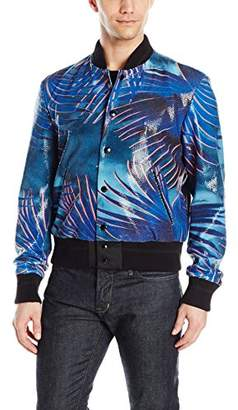 Just Cavalli Men's Sequined Palm Bomber Jacket