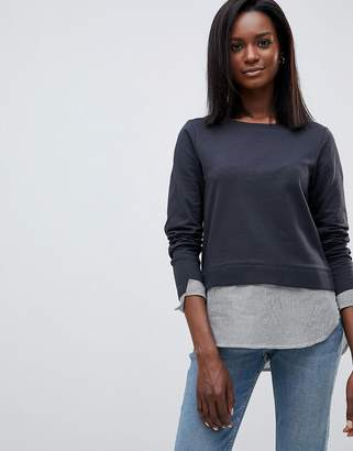 Oasis 2-In-1 Sweater With Shirting Detail