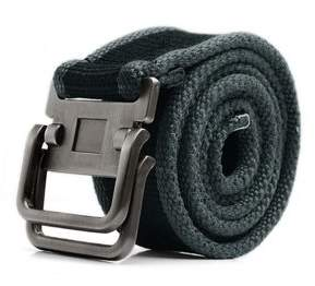Unique Bargains Mens Alumium Slide Buckle Webbing Canvas Waist Belt