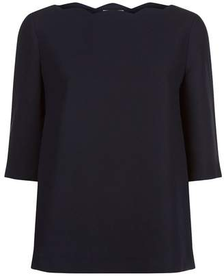 Claudie Pierlot Scalloped Neckline Blouse