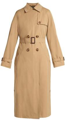 Max Mara Belted Double Breasted Trench Coat - Womens - Tan
