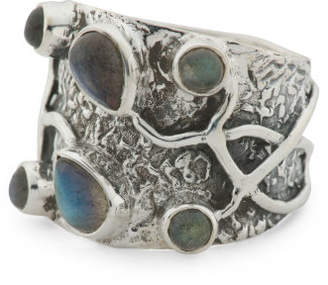 Made In India Sterling Silver Labradorite Band Ring