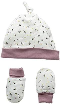 Mamas and Papas Baby Girls' Spot Print Mitts Hat,1 (Manufacturer Size:6-12 Months)