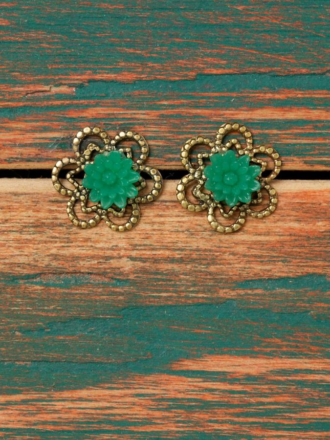Flower and Leaves Studs